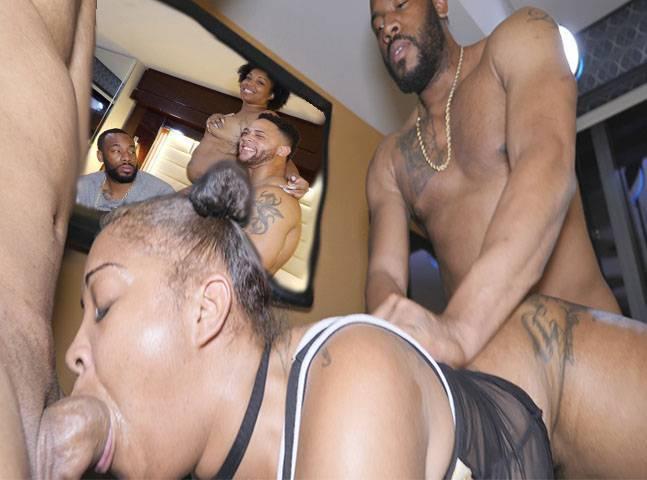 Ebony Asian Threesome Pov