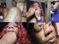 BLACK PORN VIDEO.. BIG BOOTY BIG MOUTH BIG NOSE SEXFEENE FUCKED BY CALI KASTRO