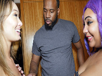 BLACK and KOREAN PORN THREESOME... MIXED FREAKS LADYBUG AND CHRISTY LOVE FUCK BBC JOVAN JORDAN