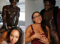 BLACK AND LATINA PORN VIDEO... SEXY PUERTO RICAN NEWBIE CARAMELA FUCKS BBC LOUIE SMALLS