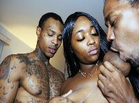 BLACK PORN THREESOME VIDEO... THE SEXY BLACK TEEN CANDY RAIN FUCKED BY KING KREME AND RALPH WHOREN